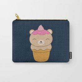 Kawaii Bear Ice Cream Cone Carry-All Pouch
