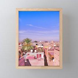 Marrakech Rooftop Framed Mini Art Print
