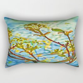 Budding Branches Rectangular Pillow