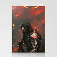 alicexz Stationery Cards featuring Blood in the Breeze by Alice X. Zhang