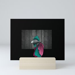 Siamese fighting fish Mini Art Print