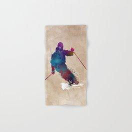 alpine skiing #ski #skiing #sport Hand & Bath Towel