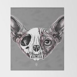 Shynx Half Skull Throw Blanket