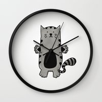 kitty Wall Clocks featuring Kitty by Studio14