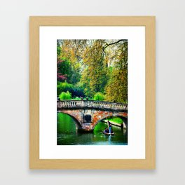 messing about on the river Framed Art Print