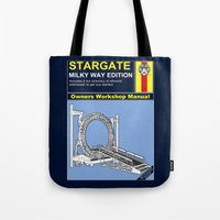 stargate Tote Bags featuring Stargate by Paul Elder