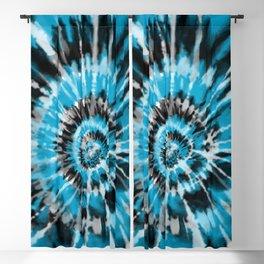 Light Blue Tie Dye Blackout Curtain