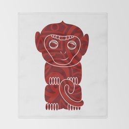 Tiki Monkey Throw Blanket