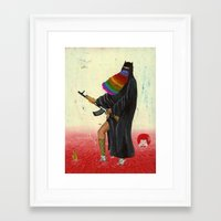 islam Framed Art Prints featuring fancy islam by Robert Deutsch