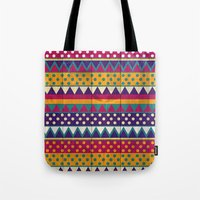 mexican Tote Bags featuring Mexican Pattern by Eleaxart