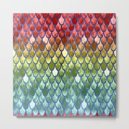 Pretty Mermaid Scales 39a Metal Print