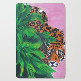 Jungle cat Cutting Board