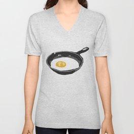 Egg in a Frying Pan Unisex V-Neck