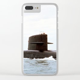 USS LEWIS AND CLARK (SSBN-644) Clear iPhone Case