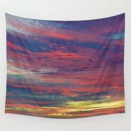 Cotton Candy coloured sky Wall Tapestry
