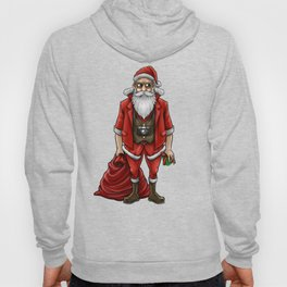 Hipster Santa Claus | Christmas Style Cool Fashion Hoody