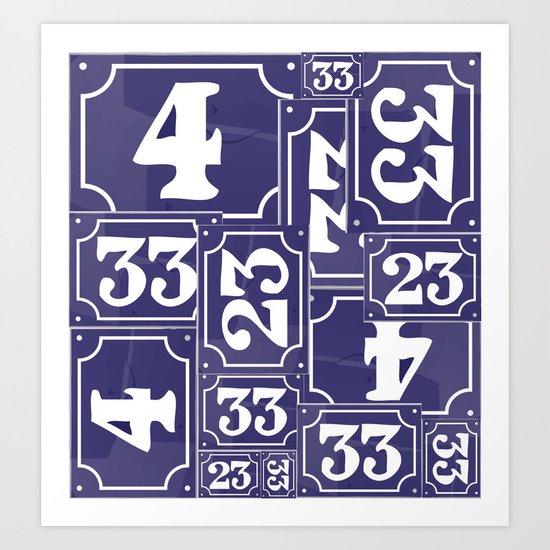 Enamel Number Plates Art Print