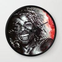 africa Wall Clocks featuring Africa by Lucy Schmidt Art