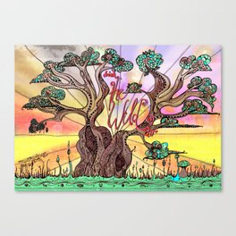 Drink the Wild Air by Rosemary Knowles, aka MaxillaMellifer Canvas Print