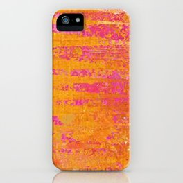 Orange & Hot Pink Abstract Art Collage iPhone Case
