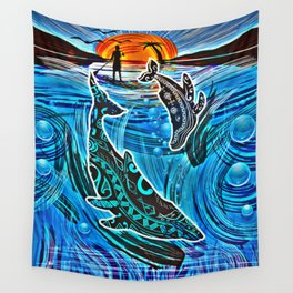 Whales Tale Wall Tapestry