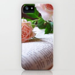 Words and Flowers iPhone Case