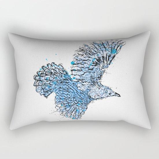 Blue Bird Rectangular Pillow