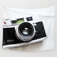 camera Wall Tapestries featuring Camera by TheWildPlum