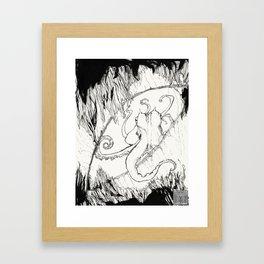 Curious Coconut Octopus Framed Art Print