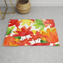 Bright Maple Leaves-It's Fall Y'all Rug