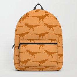 Tyrannosaurs Rex on Orange Backpack