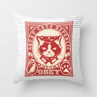 obey Throw Pillows featuring OBEY by frail
