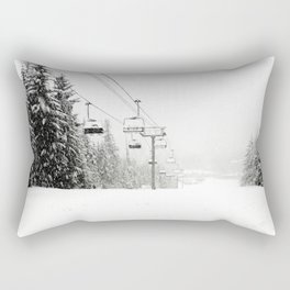 Lifts waiting for action in the snow Rectangular Pillow