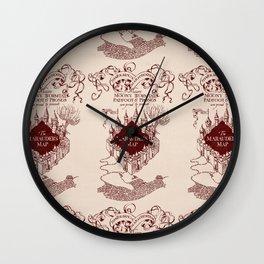 Marauder's Map Wall Clock