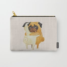 Pug Hugs Watercolor Carry-All Pouch