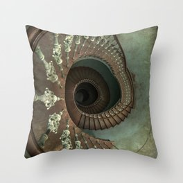 Ornamented spiral staircase Throw Pillow