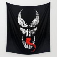 venom Wall Tapestries featuring Venom by WaXaVeJu