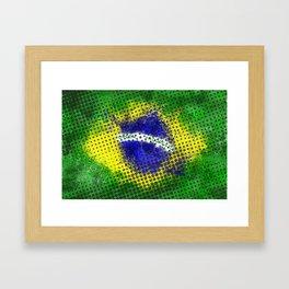 Brazil - Brazilian Flag Framed Art Print