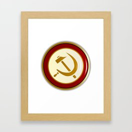 Russian Pin Badge Framed Art Print