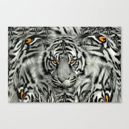 TIGER PAW-TRAIT Canvas Print