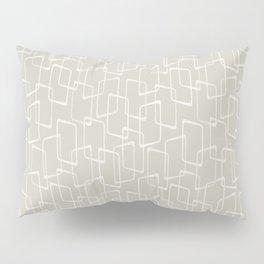 Beige / Light Warm Gray Retro Geometric Pattern Pillow Sham