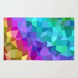 Multicolor mosaic tiles Rug