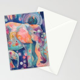 Dream Elephants Stationery Cards