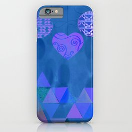 Christmas Blues iPhone Case
