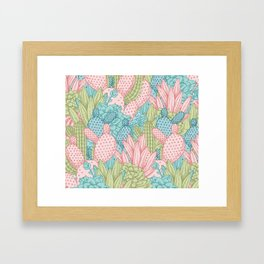 Pastel Cacti Obsession #society6 Framed Art Print