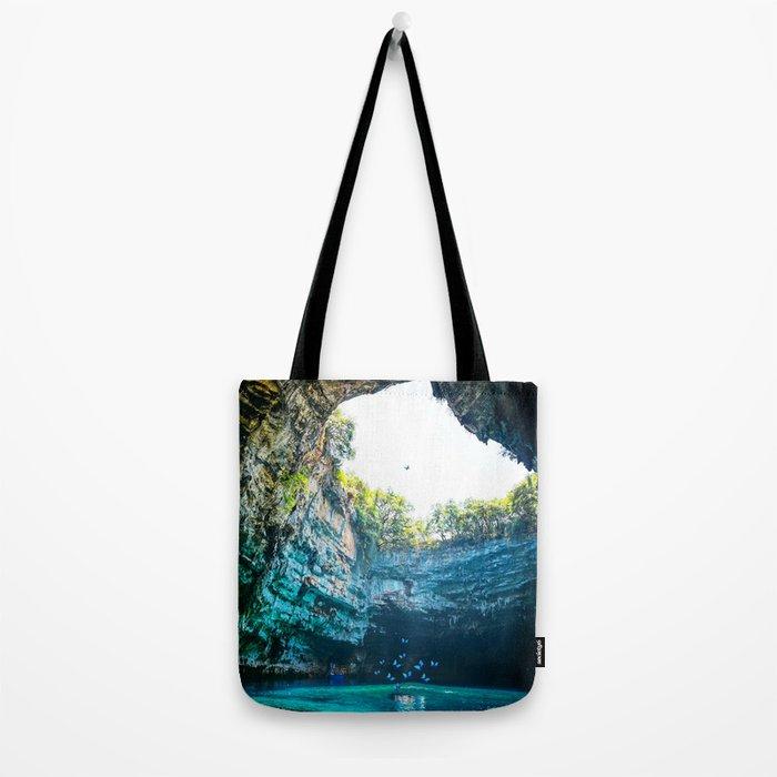 Sea Cave in Greece Tote Bag