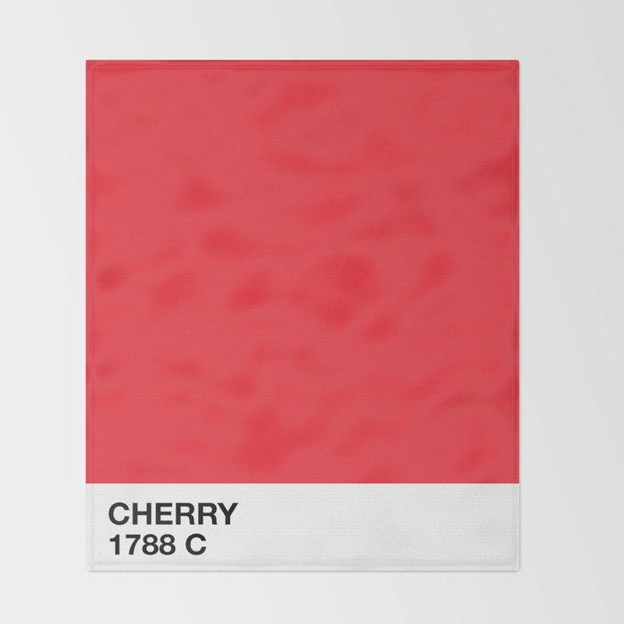 cherry Throw Blanket
