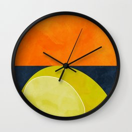 sun & moon abstract geometric shapes Wall Clock