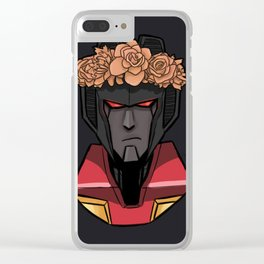 Starscream with Flowers Clear iPhone Case