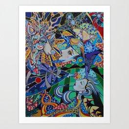 Reindeer Magic Art Print